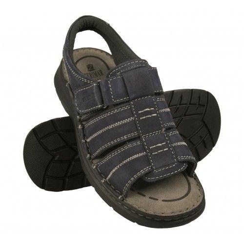 Trekking leather velcro closure sandals for men Zerimar - 1