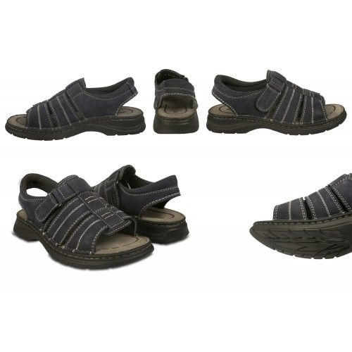 Trekking leather velcro closure sandals for men Zerimar - 2