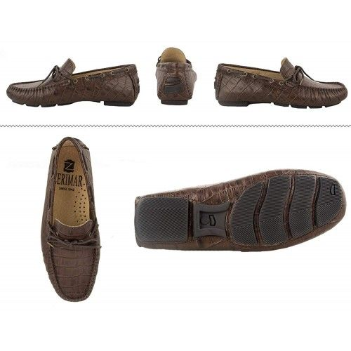 Leather Boat Shoes for Men, Leather Nautical Shoes Men, Loafers Men 6 Zerimar - 8