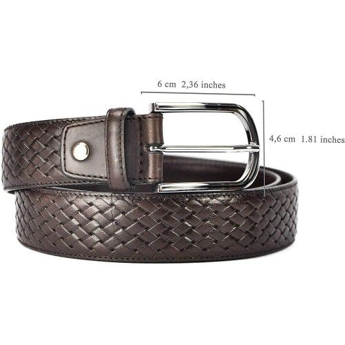 Leather Belt in Elegant Style with 1,37 inches wide-1 Zerimar - 2