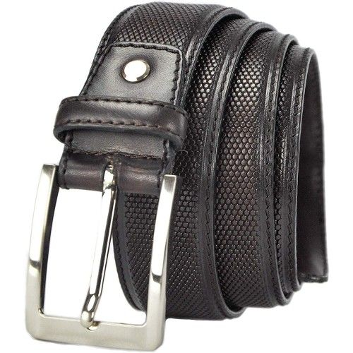 Leather Belt with 1,37 inches wide in Elegant Style-2 Zerimar - 1