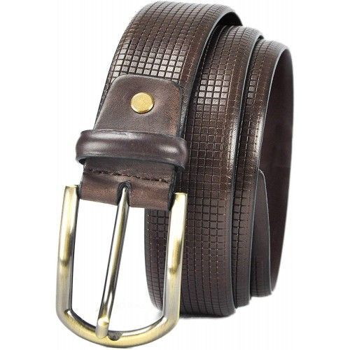 Leather Belt in Elegant Style and 1,37 inches wide Zerimar - 1