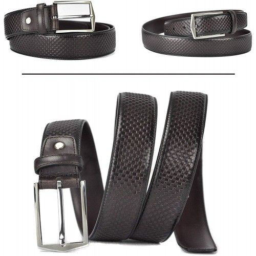 Leather Belt in Elegant...