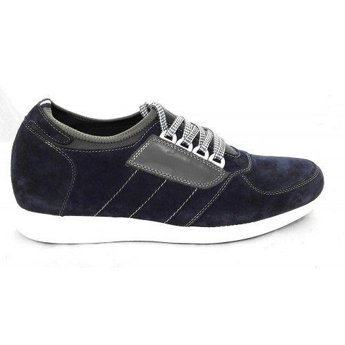 Men Leather Shoes, Elevator Shoes 2,7 in, Sport Shoes for Men 3 Zerimar - 2