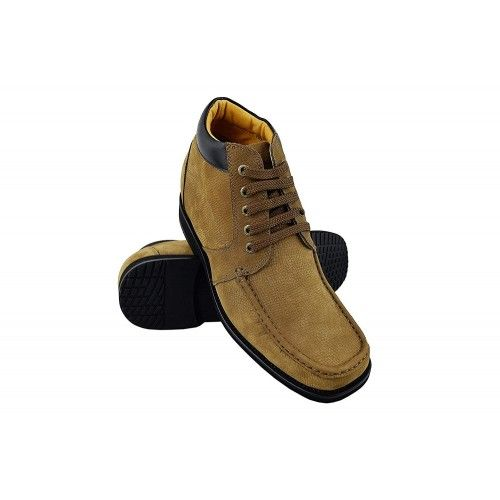 Men Leather Boots, Elevator Shoes 3,7 in, Casual Boots for Men Zerimar - 1