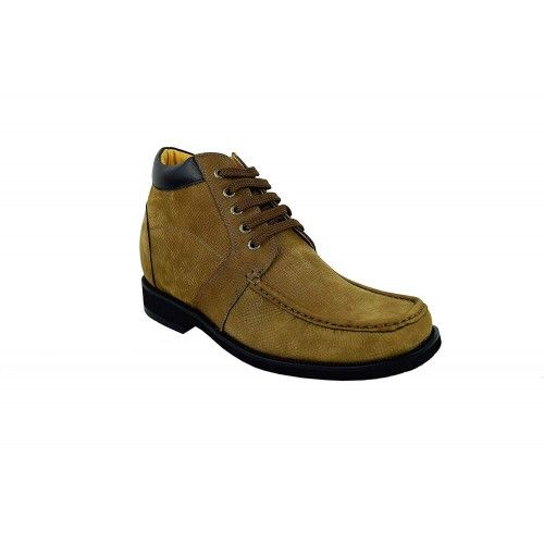 Men Leather Boots, Elevator Shoes 3,7 in, Casual Boots for Men Zerimar - 2