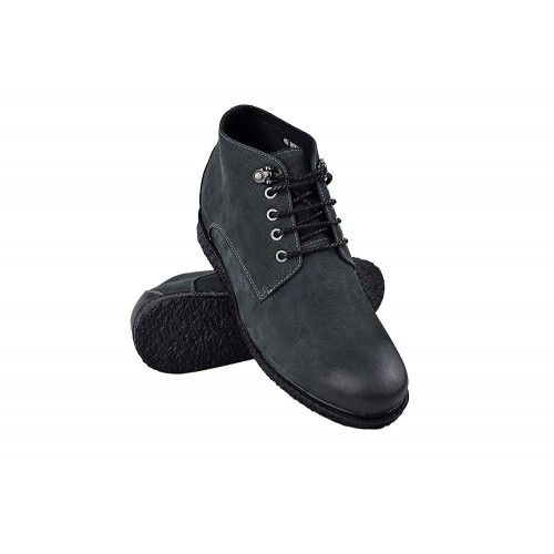 Men Leather Boots, Elevator Shoes 2,3 in, Casual Boots for Men Zerimar - 1