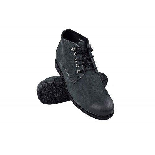 Men Leather Boots, Elevator...