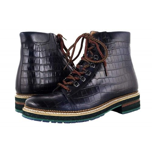 Men Leather Boots, Elevator Shoes 2,7 in, Casual Boots for Men 1 Zerimar - 1