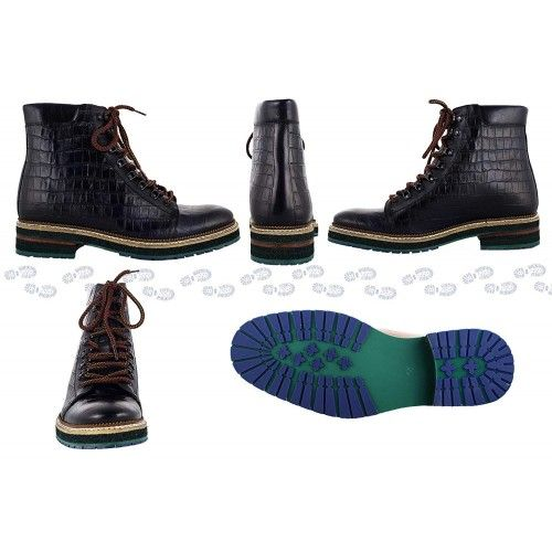 Men Leather Boots, Elevator Shoes 2,7 in, Casual Boots for Men 1 Zerimar - 2
