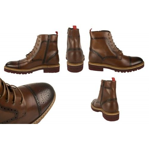 Leather boots oxford style with 7 cm internal rise Zerimar - 2