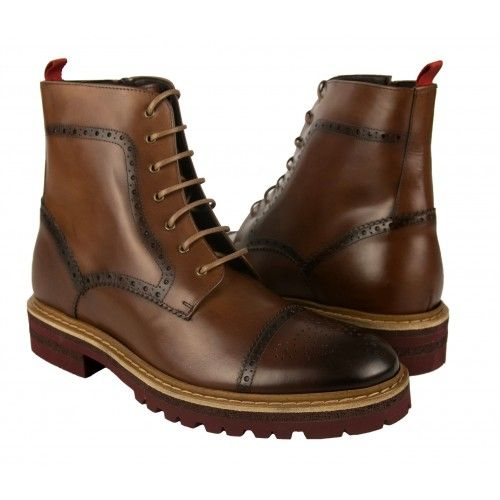 Leather boots oxford style with 7 cm internal rise Zerimar - 1