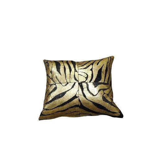 Cowhide Cushion Metallic, 15x15 in, Bedroom Cushions, Cushions Zerimar - 1