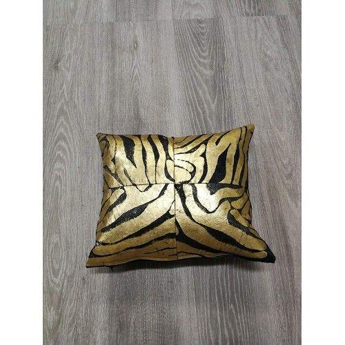 Cowhide Cushion Metallic, 15x15 in, Bedroom Cushions, Cushions Zerimar - 2