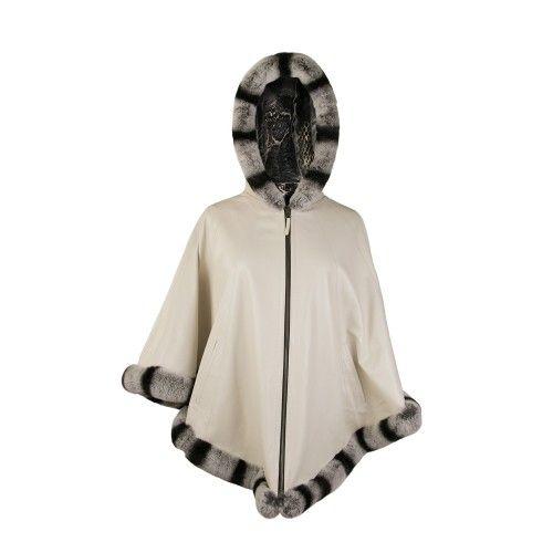Reversible leather poncho...