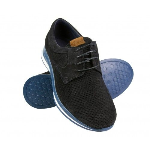 Leather sports shoes with...