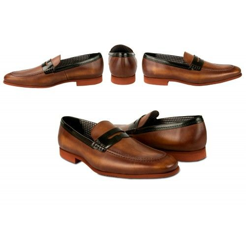 Summer leather loafers with...