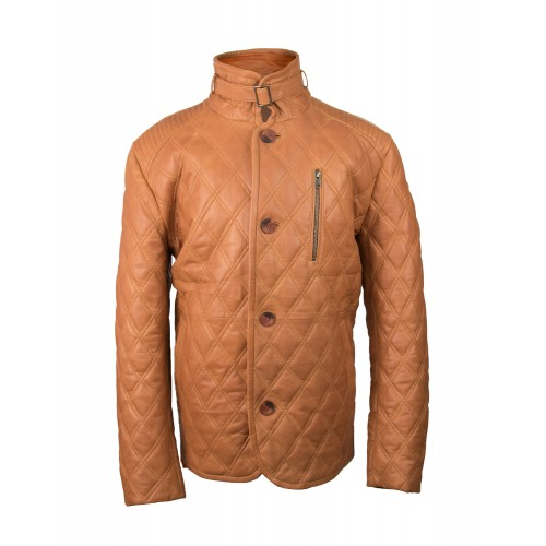 Leather jacket with stitching detail and button closure Zerimar - 2