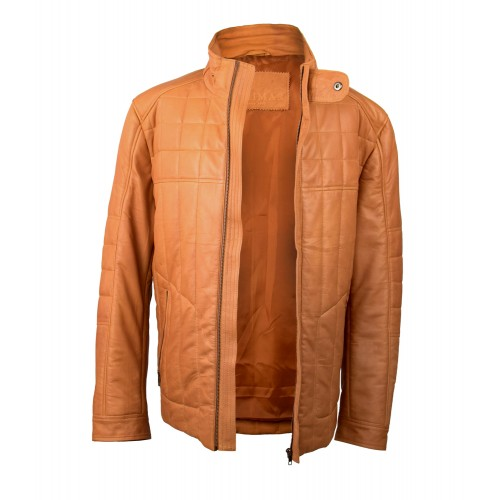 Leather jacket with zip closure model HUME Zerimar - 2