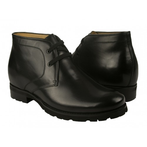 Leather Boots for Men with Height Internal Increase 2,9 in Zerimar - 1
