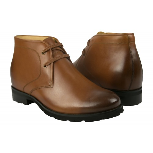 Gradient leather ankle boots with rises that increase 7 cm Zerimar - 1