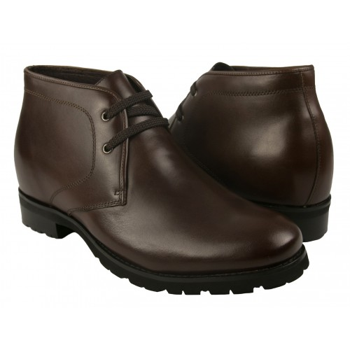 Men Leather Boots, Elevator Shoes 2,7 in, Casual Boots for Men Zerimar - 1