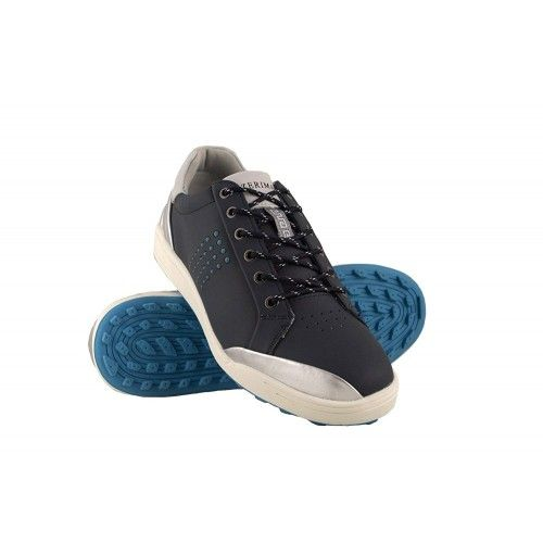 Golf shoes in leather with metallic front Airel - 1