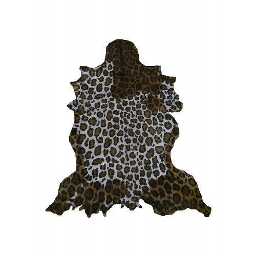 Goat Area Rug Leopard Imitation, 39x31 in, Area Rug Living Room Zerimar - 1