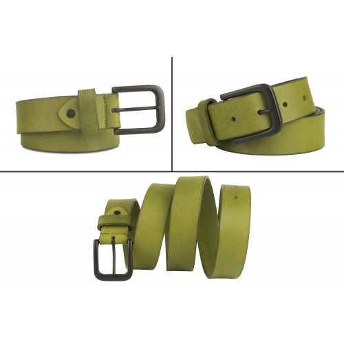 Colored leather belt with...