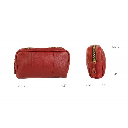 Toiletry bag - leather...
