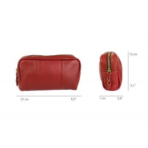 Toiletry bag - leather travel bag 21x5x3 cm Zerimar - 2