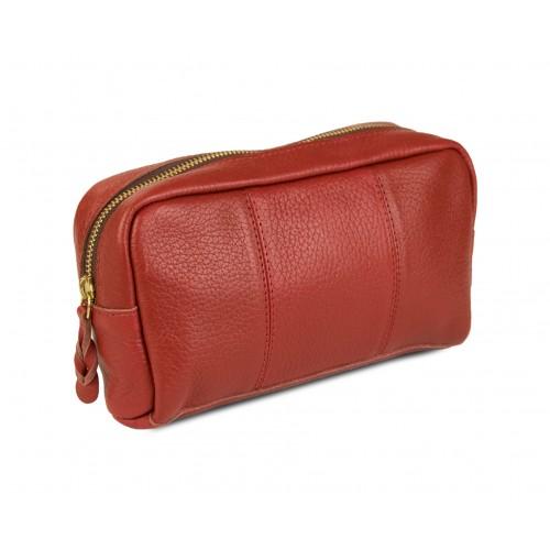 Toiletry bag - leather travel bag 21x5x3 cm Zerimar - 1