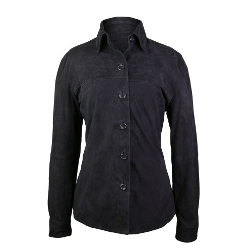 Winter suede shirt with...