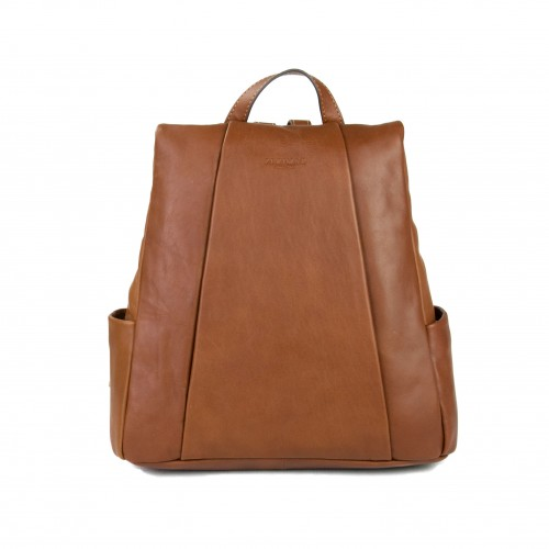 Natural leather backpack...