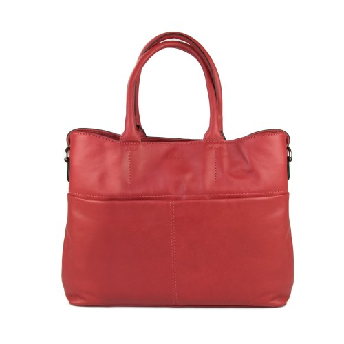 Natural leather bag with...