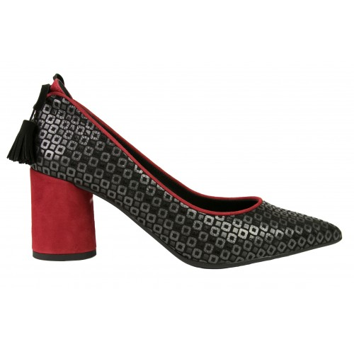 Mosaic print leather shoes...