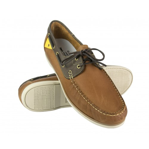 Leather Boat Shoes for Men, Big Sizes, Leather Loafers Men 5 Zerimar - 1