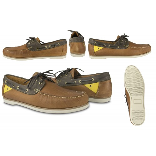Leather Boat Shoes for Men, Big Sizes, Leather Loafers Men 5 Zerimar - 2