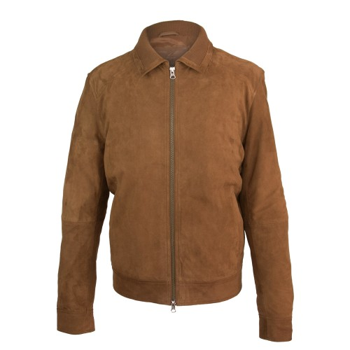 Suede jacket with classic...