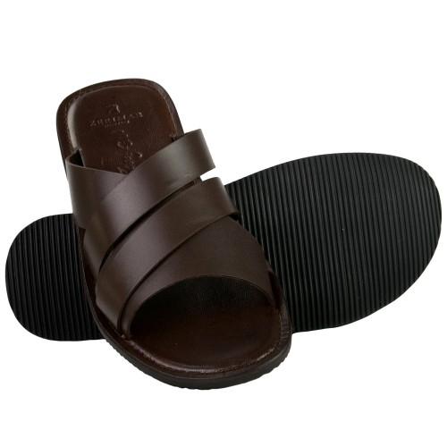 AQUILES cross-over sandals in natural leather Zerimar - 1