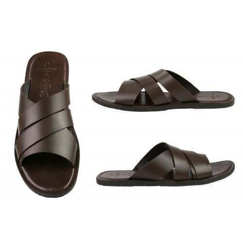 AQUILES cross-over sandals in natural leather Zerimar - 2
