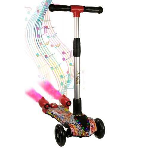 Scooter 3 Wheels with Music, Children's Scooter, 3 Wheels Scooter Airel - 16