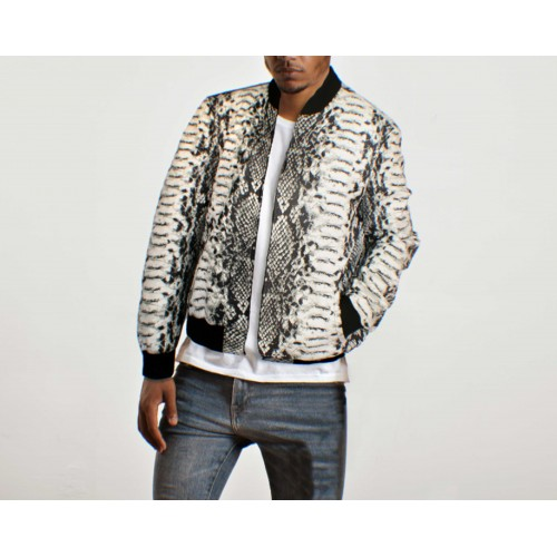 Men's bomber with python...