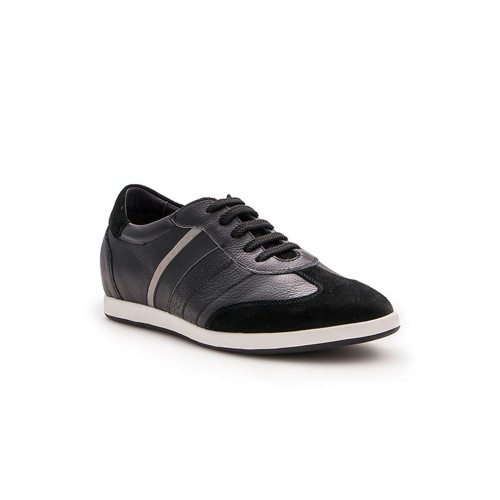 Leather sneakers with...