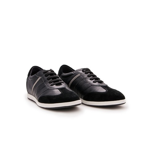 Leather sneakers with interior risers of 6.5 cm Zerimar - 3