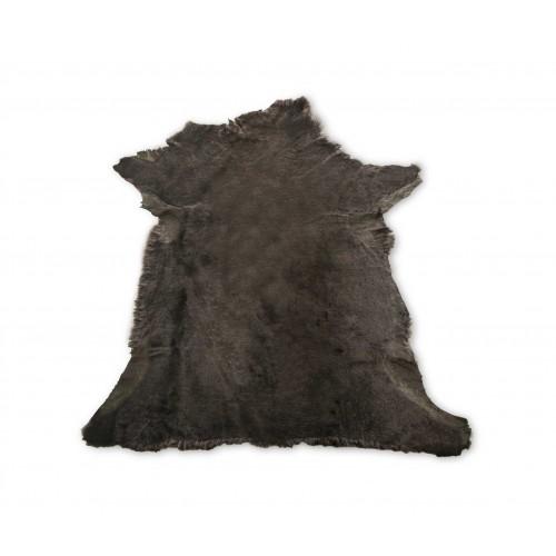 Mouton lamb rug 35,4x35,4 in brown Zerimar - 1