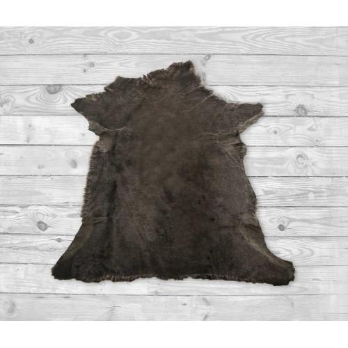 Mouton lamb rug 35,4x35,4 in brown Zerimar - 2