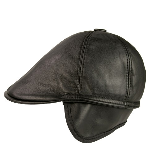Joker leather beret with...