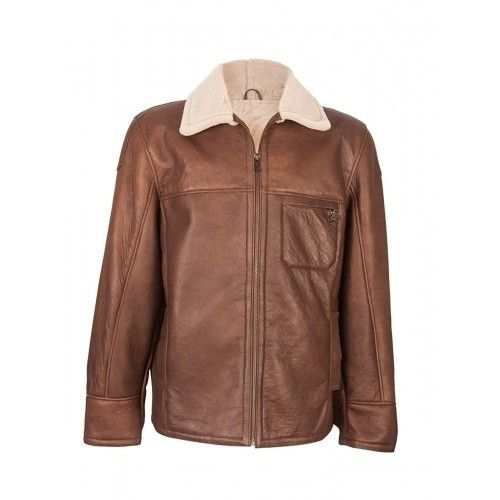 Double face leather jacket with chest pocket Zerimar - 1