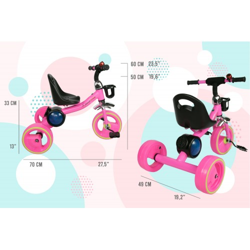 Tricycle with pedals from 2 to 6 years old with music and lights Airel - 2